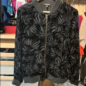 All black shear floral jacket, new with tags!